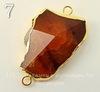 Коннектор (1-1) Агат с огранкой с фольгой (цвет - золото) (№7 (45х28 мм))