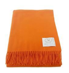 Элитный плед шерстяной Eolo оранжевый от CO.BI.