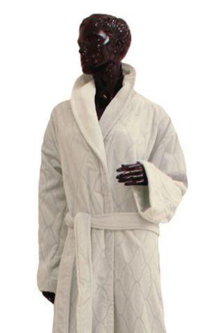 Элитный халат махрово-велюровый Canby ivory от Vossen