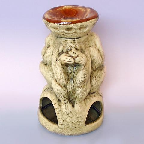 Аромалампа Три обезьяны шликер h-17cm L-10cm