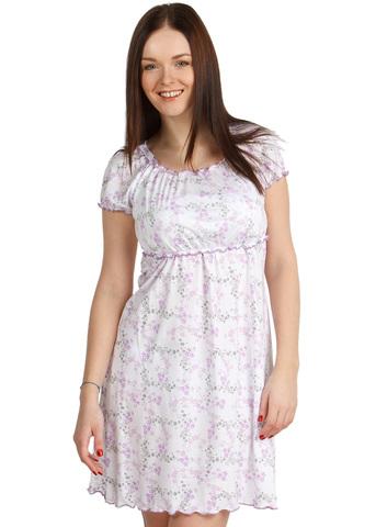Ночная сорочка НВ01 Цветы розовые для беременных  и кормящих