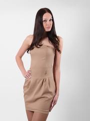 6169 Платье жен. коричневое