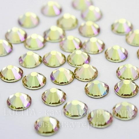 2028/2058 Стразы Сваровски холодной фиксации Crystal Luminous Green ss12 (3,0-3,2 мм), 12 штук