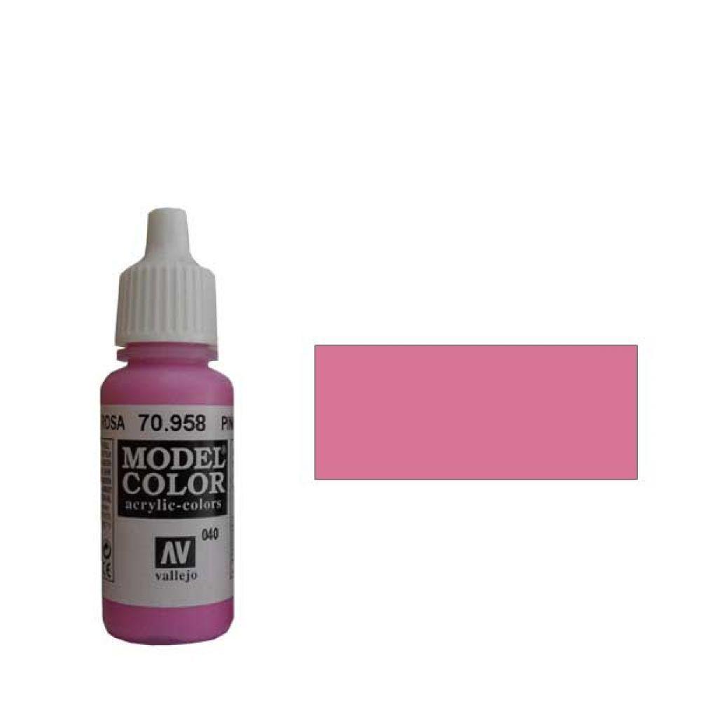 040. Краска Model Color Розовый 958 (Pink) укрывистый, 17мл