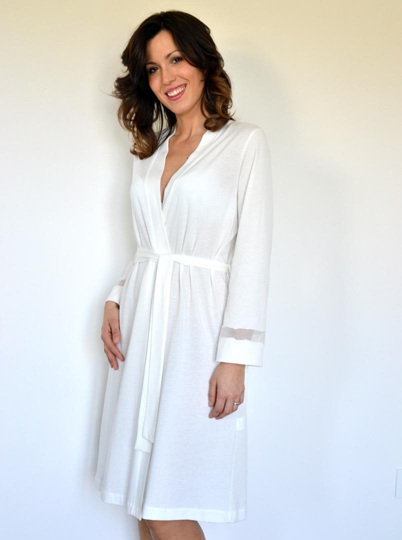 Легкий женский халат B&B (Женские халаты)