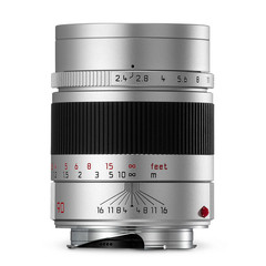 Leica Summarit-M 90mm f/2.4, silver
