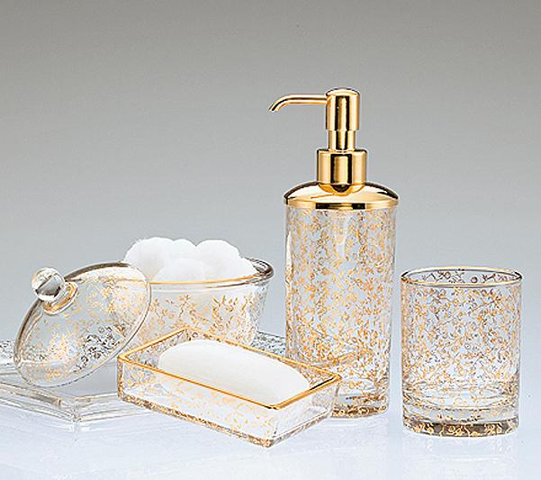 Набор элитных аксессуаров для ванной Flora Gold от Labrazel