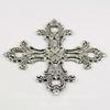 """Винтажный декоративный элемент - филигрань """"Мальтийский крест"""" 56х56 мм (оксид серебра) ()"""