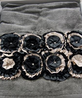 Набор полотенец 2 шт Emanuel Ungaro Roses черный