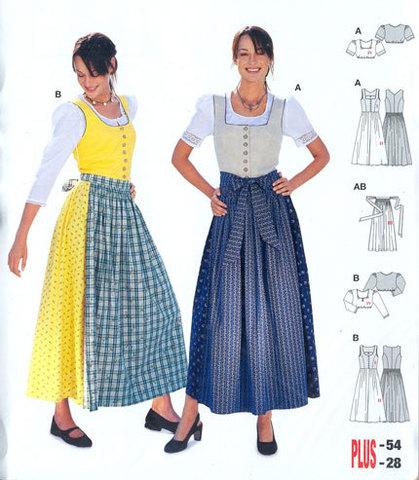 Выкройка Burda (Бурда) 8448 — Баварский костюм