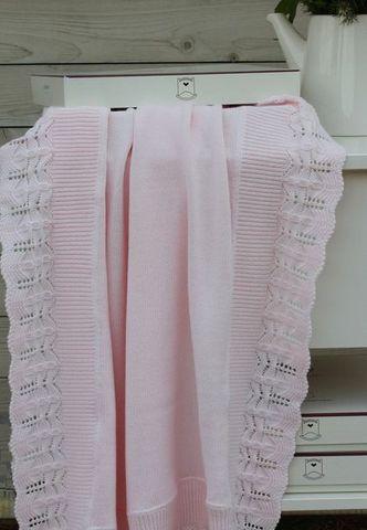 Элитный плед детский Lux 1133 розовый от Luxberry