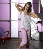 Комплект женской пижамы с бриджами Rebecca & Bros