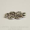 Винтажный декоративный элемент - штамп 23 мм (оксид серебра)