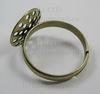 Основа для кольца с ситом 13,5 мм  (цвет - бронза)