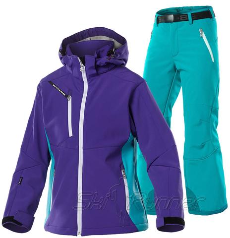 Лыжный костюм детский 8848 Altitude Apex Purple Wilbur Turquoise