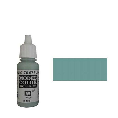 107. Краска Model Color Серо-Голубой Пастельный 972 (Light Green Blue) укрывистый, 17мл