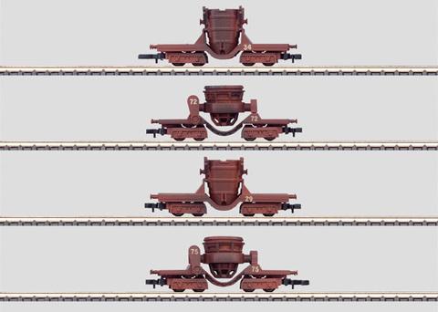 Набор из 4-х четырехосных сталеперевозчиков MARKLIN 86210
