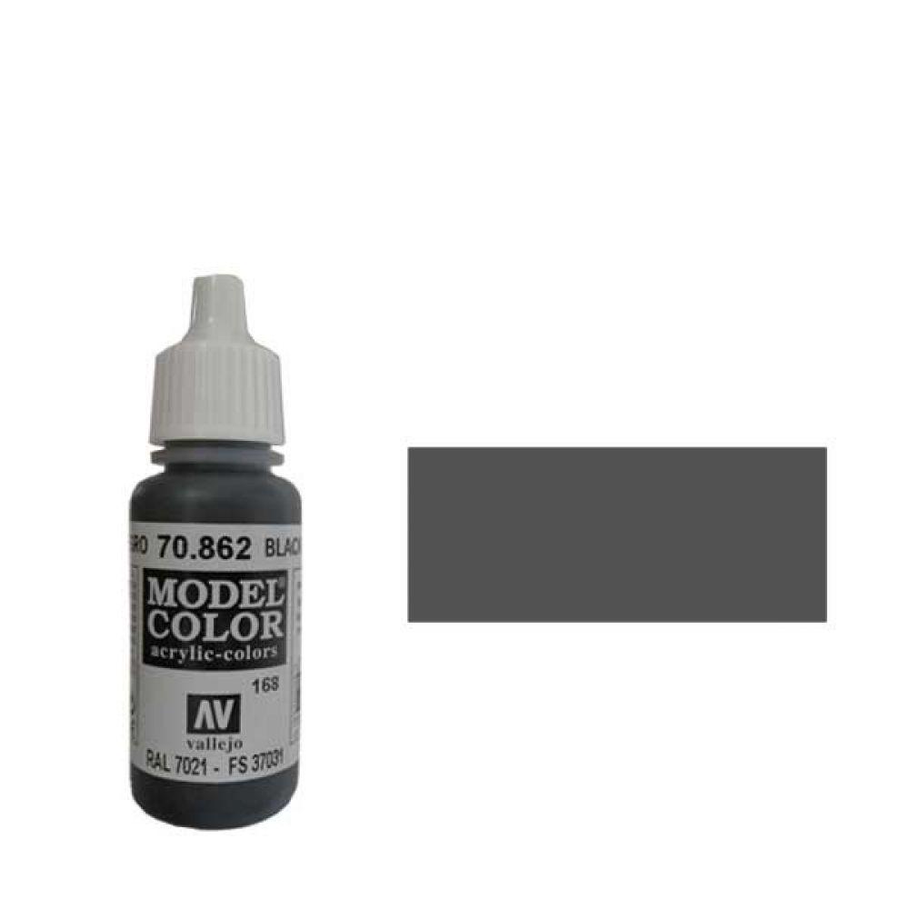 168. Краска Model Color Черный-Серый 862 (Black Grey) укрывистый, 17мл