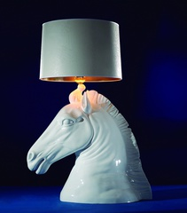 лампа horse head table lamp