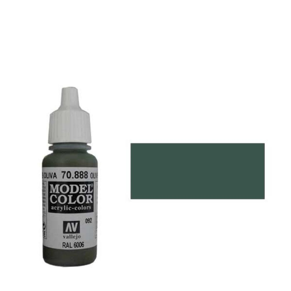 092. Краска Model Color Серо-Оливковый 888 (Olive Grey) укрывистый, 17мл