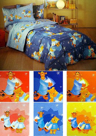 Детское постельное белье Сaleffi Pooh B.Notte оранжевое