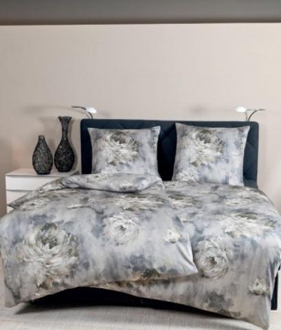 Постельное белье 1.5 спальное Janine Messina 4733 серый опал