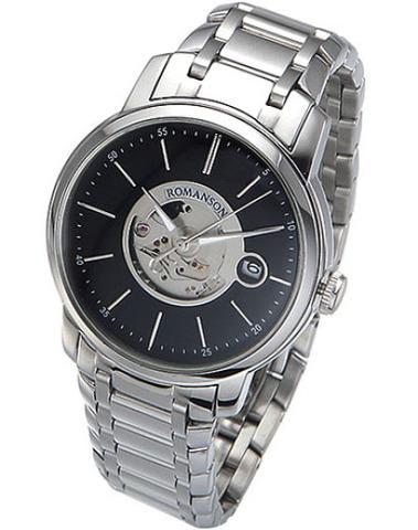 Купить Наручные часы скелетоны Romanson TM8222OMWBK по доступной цене