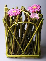Декоративная ваза из бамбука 8263