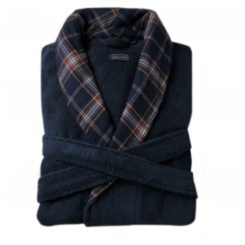 Элитный халат махровый Oxford синий от Casual Avenue