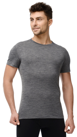 Термобелье футболка Norveg Soft мужская с коротким рукавом серая