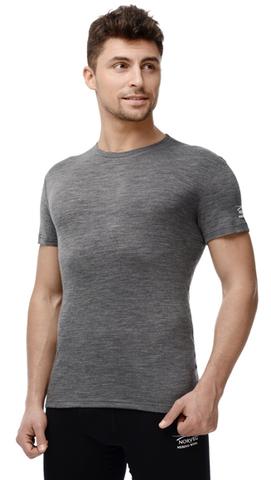 Термобелье Футболка Norveg Soft T-shirt мужская с коротким рукавом серая