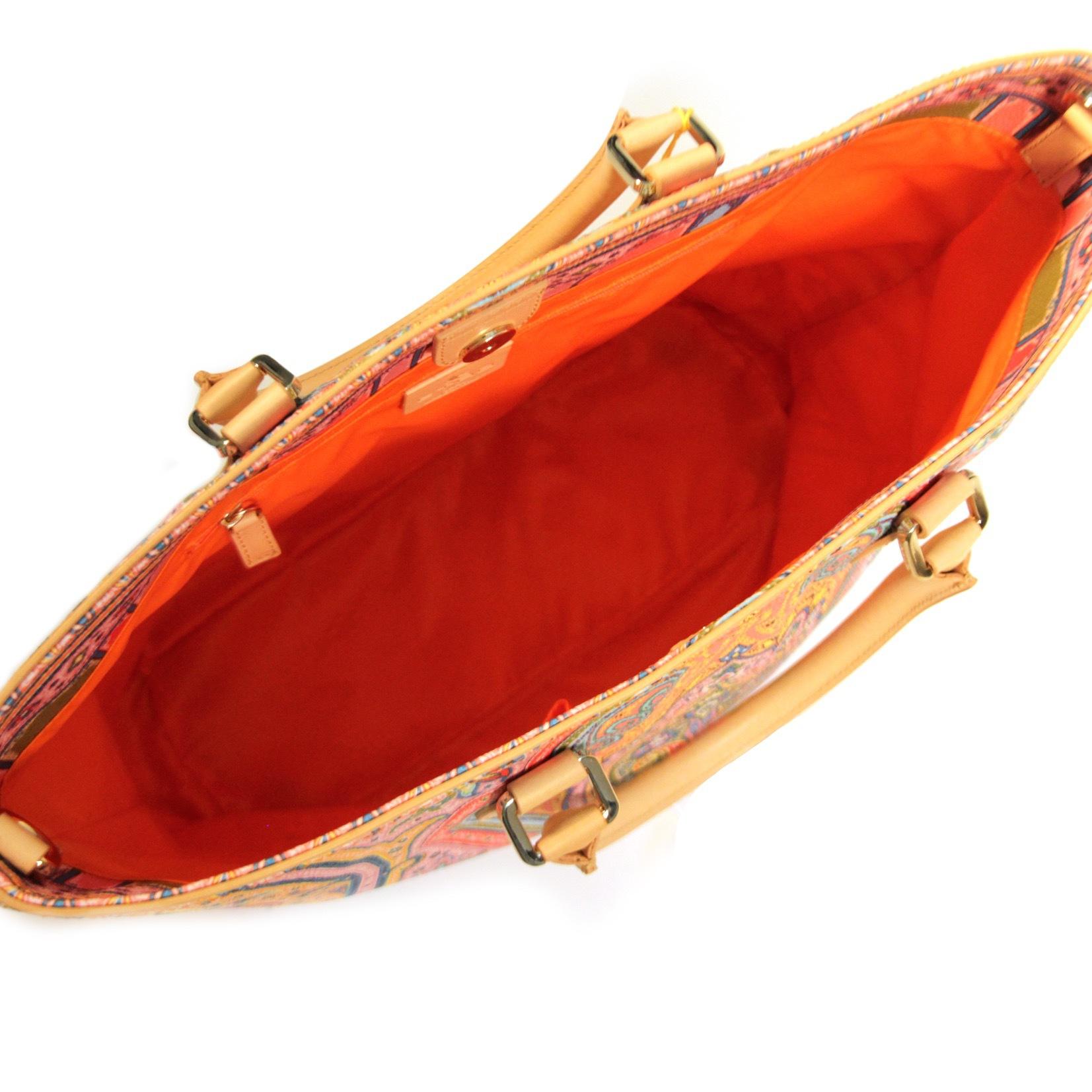 Сумка. Цвет голубой/оранжевый ETRO