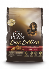Pro plan duo delice small adult with beef & rice dog