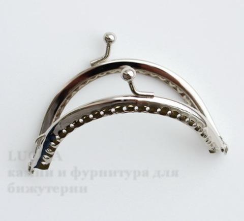 """Фермуар 9х6,3 см """"Гладкий"""" (цвет - античное серебро) ()"""