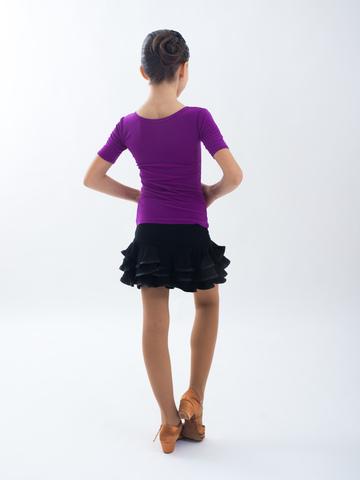 Детская блуза с коротким рукавом  для танцев, арт. 403