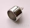 Концевик для шнура 17 мм (цвет - античное серебро) 27 мм, 2 штуки