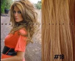 Набор 10 прядей,цвет #18-медный пепельный блондин