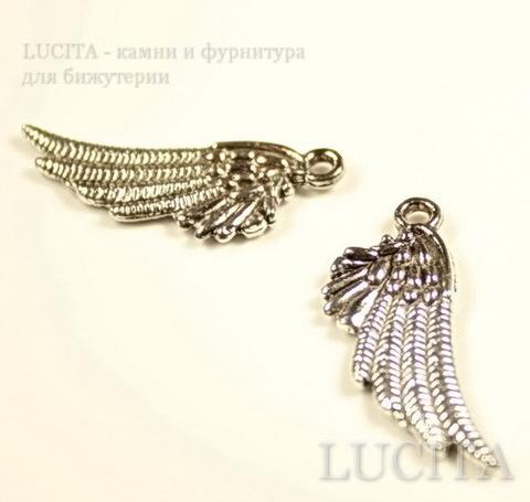 """Подвеска """"Крыло"""" (цвет - античное серебро) 29х11 мм ()"""