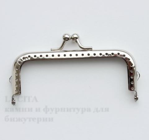"""Фермуар 10,5х6 см """"Гладкий"""" (цвет - античное серебро)"""