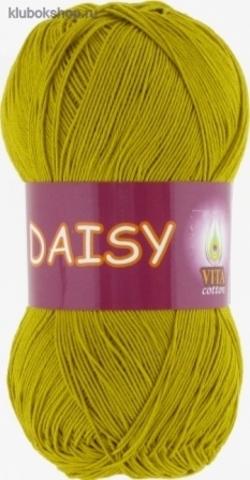 Пряжа Daisy 4406 горчичный Vita Сotton - мерсеризованный хлопок