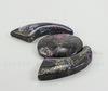 Комплект из 3 подвесок Яшма Императорская (тониров)(прессов) цвет - фиолетовый №7