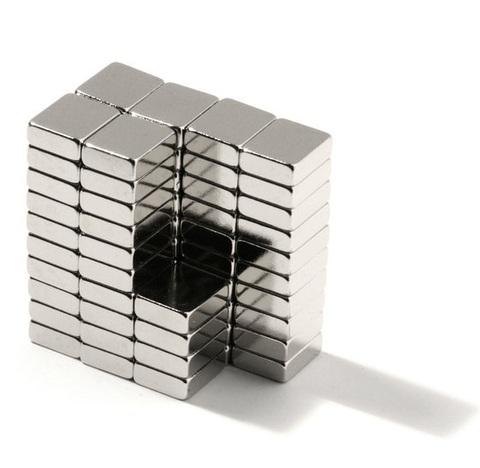 Магнит 6.6х6.6х3.05 мм, N30SH, никель, неодимовый блок