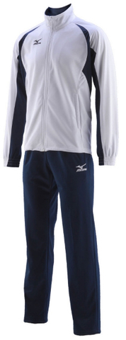 Спортивный костюм Mizuno Team Knitted Track Suit Equip бело-синий