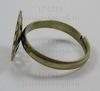 Основа для кольца с ситом 13,5 мм  (цвет - бронза) ()