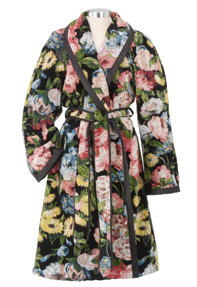 Элитный халат шенилловый Midnight Garden Nicole 10 schwarz от Feiler