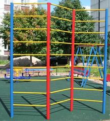 Стенка гимнастическая уличная 1-секционная (металл) 2,8х1,0