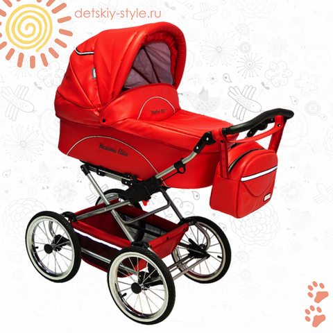 "Коляска Stroller B&E ""Maxima Elite XL Кожа"" 2в1"