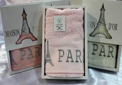 PARIS - ПАРИС полотенце махровое в коробке Maison Dor(Турция).