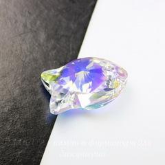 6727 Подвеска Сваровски Fish Crystal AB (18 мм)