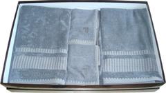 Набор полотенец 2 шт Trussardi Story серый